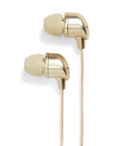 gold ear buds